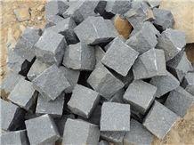 G654 Granite Cube Stone & Paver,China Dark Grey/Sesame Grey Granite