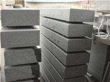 G654 Granite Kerbstone,China Dark Grey Granite Kerbstone,Sesame Grey Granite Kerbstone