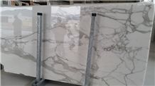 Calacatta Gold Marble Tiles & Slabs, White Marble Italy Tiles & Slabs