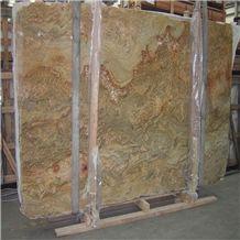 Brazil Juparana Golden River Granite Slabs & Tiles