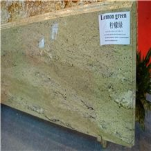 Lemon Grace Granite Tiles & Slabs,India Green Granite