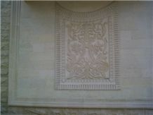 Limestone Carved Wall Relief Panel