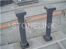 Slcl-003,Fujian Black G654 Column, Jet Mist Column, Black Color Granie Column, Pillar