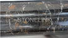 Slcl-007, Portoro Gold Marble Column, Black Marble Column