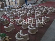 Slcl-009, China Beige Sandstone Column Base, Sadstone Pillar Base