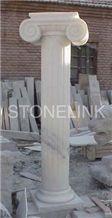 Slcl-017, White Marble Column, White Pillar, Roman Column, Danba White Marble Roman Columns