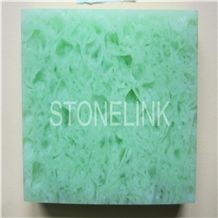 Slqu-012,Green Quartz Stone Floor /Wall Tiles & Slabs,Artificial Quartz,Engineered Quartz