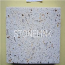 Slqu-072,Seasame White Quartz Stone Slabs