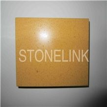 Slqu-074 Sunset Gold Artificial Quartz Tile