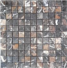 Black Gold Marble Mosaic Tile