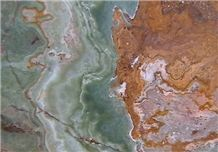 Multi-Green-Onyx Slabs & Tiles, Multicolor Green Onyx Slabs & Tiles