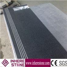 Dark Gray G654 Granite Stairs, China Impala Black, Padang Dark Black, Sesame Black Granite Steps