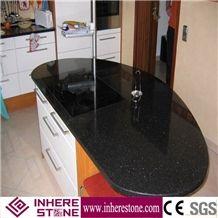 Double Black Galaxy Granite Kitchen Design