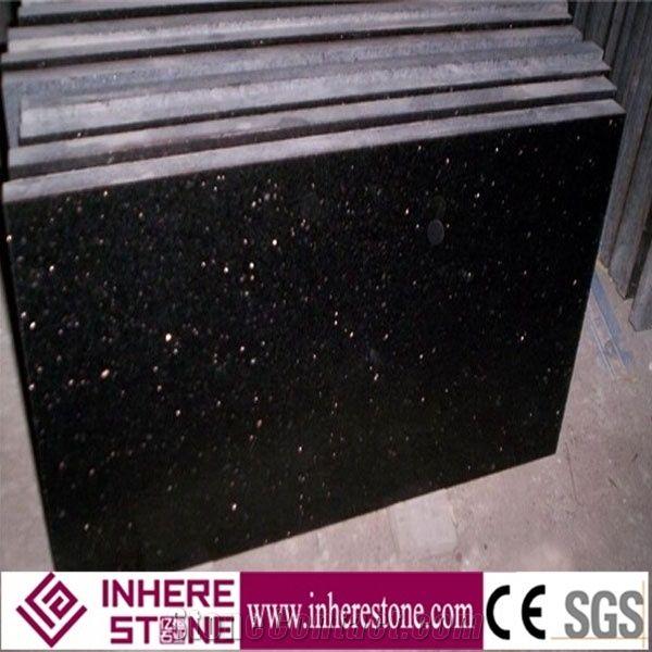 Black Galaxy Granite Slabs Tiles