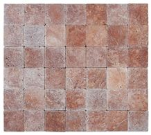 Small Sizes Tumbled Red Travertine Tiles