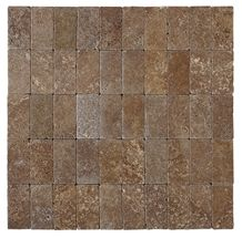 Small Tumbled Tile, Noce Travertine