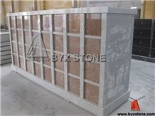 Maple Red Granite Columbarium / Stone Cemetery Columbaria