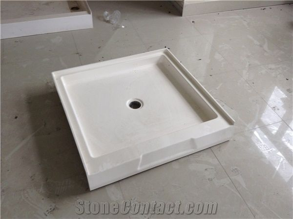 Cultured White Marble Shower Tray Cultured Marble Shower