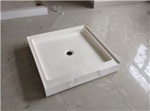 Cultured White Marble Shower Tray Cultured Marble Shower Pan - Cast marble shower pans