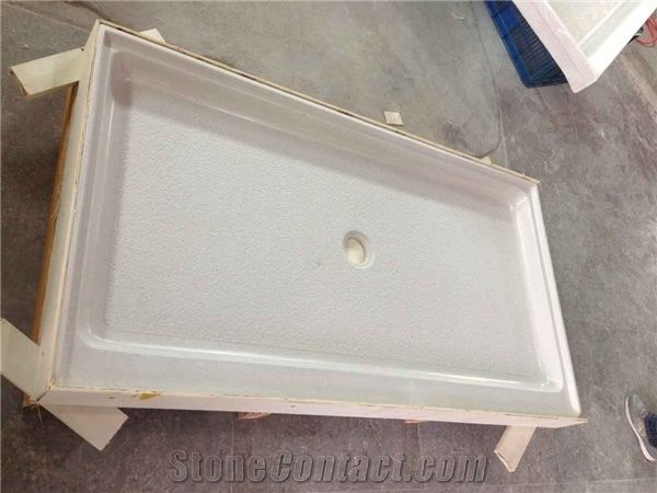 White Cultured Marble Shower Tray Cultured Marble Shower
