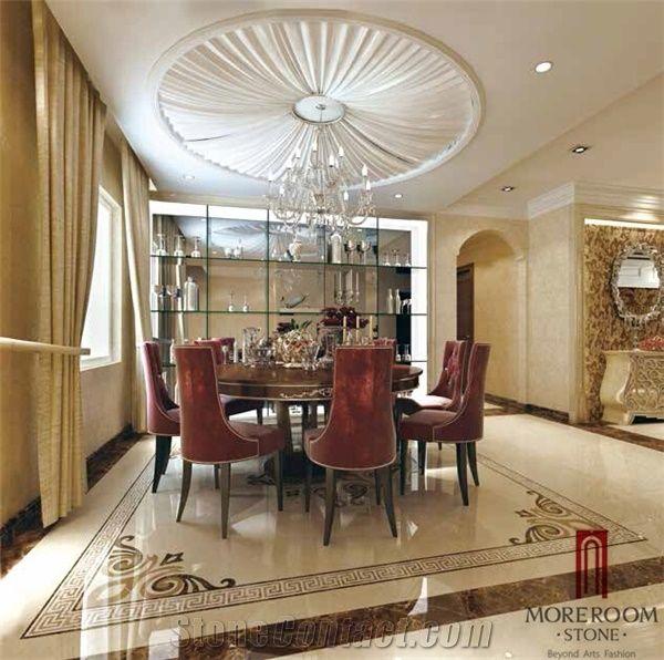Multicolor Marble Flooring Border Designs, Waterjet Marble ...