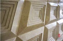 Turkey Latte Beige 3d Marble Cnc Wall Panels