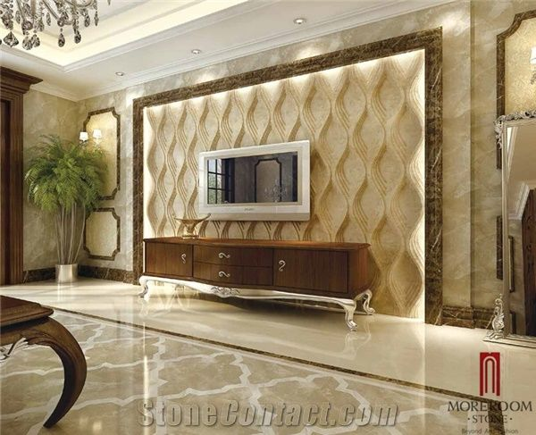 Turkish Cappuccino Marble Walling Tiles 3d Wall Panel Cnc