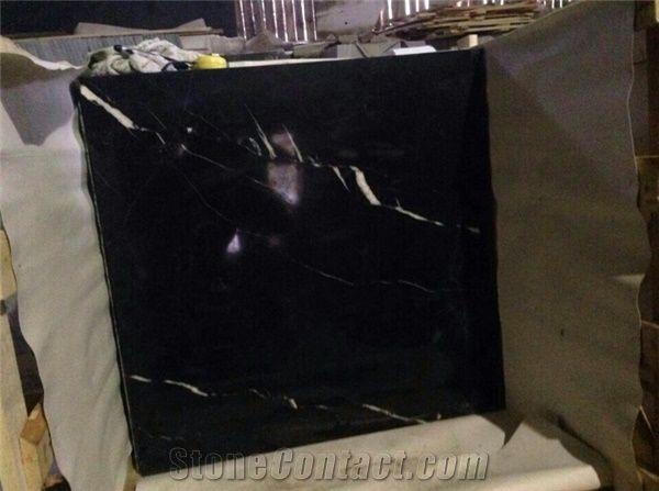 Polished China Black Color Marble Tiles Floor Tiles Mable Black