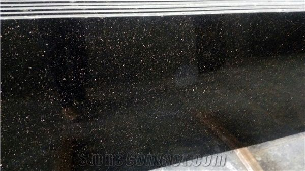 Black Galaxy Granite Tiles Slabs India Black Galaxy