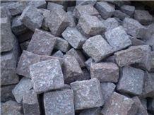 Pink Binh Dinh Granite Cube Stone & Pavers