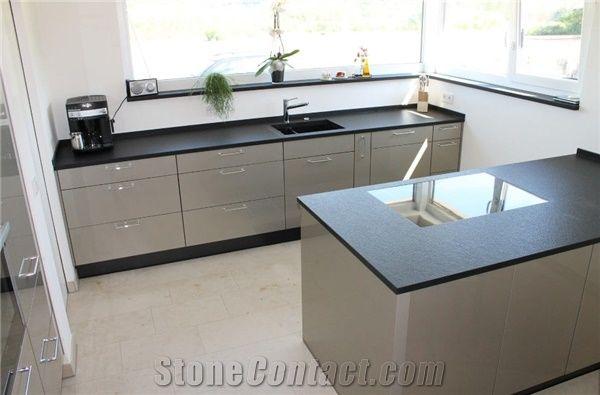 Nero Assoluto Zimbabwe , Brushed Nero Assoluto Kitchen Worktop From Germany Stonecontact