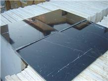 Torreon Nero Marquina Marble Tiles, Black Marble Tiles & Slabs Mexico