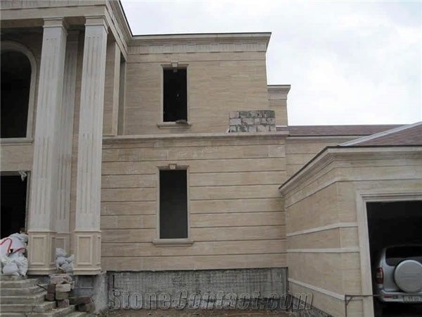 Armenia Beige Travertine Facade From Russian Federation