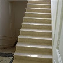 Crema Marfil Classico Marble Stairs