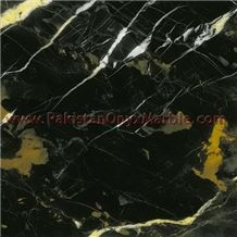 Elegance Black and Gold Michaelangelo Marble Tiles