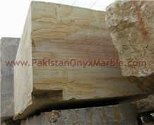 Elegance Teakwood Marble Monolama Blocks, Beige Marble Blocks Pakistan