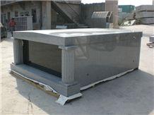 China G603 Granite Double Cremation Columbarium, Cemetery Mausoleum Design, Shanxi Black Granite 2 Niches Columbarium Crypts