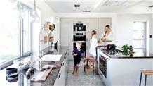 Lundhs Labrador Antique Granite Kitchen Countertops, Brown Granite Kitchen Countertop Norway