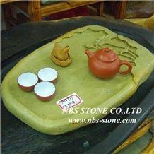 Art Slate Tea Table Sets,Stone Tea Trays