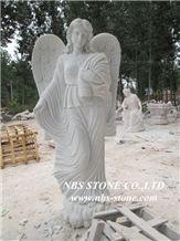 Grey Granite Human Sculpture,Angel