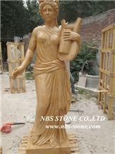 Yellow Marble Sculpture, Human Sculptures