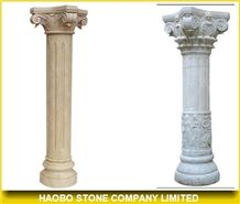 Beige Marble Roman Columns