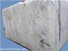 Calacatta Manhattan Light Marble Blocks, White Marble Blocks Italy