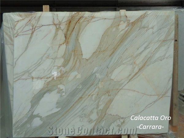 Calacatta Oro Carrara Marble Slabs From Italy