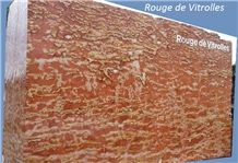 Rouge De Vitrolles Marble Slabs & Tiles, Red Marble Slabs France, Floor Covering Tiles