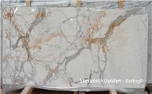 Statuario Golden Slabs, Venatino Betogli Marble Tiles & Slabs, White Marble Tiles & Slabs Italy