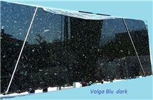 Volga Blue Dark Granite Tiles & Slabs Ukraine, polished granite floor tiles, wall tiles