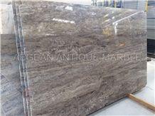 Silver Travertine Vein Cut Tiles & Slabs, Turkey Grey Travertine Floor Tiles, Wall Tiles