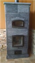 Alberene Church Hill Soapstone Masonry Heaters, Grey Soapstone Fireplace United States