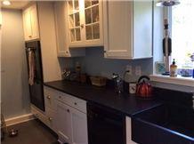 Church Hill Soapstone Kitchen Countertop, Black Soapstone Kitchen Countertop